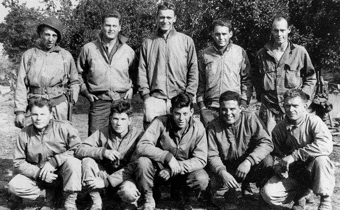 3-Sq Baker 526, (First row) l to r, Edward R. Berdine, Doyle Isaacs, Donald D. Hollenbeck (KIA), John H. Surdo, and Albert Smith. (Second row) Dallas N. Buchannan (KIA), Ralf J. Bieker, Donald J. Devoto (transferred to another Company a few days before the battle), Lillard B. McCollum (KIA) James L. Higgins (KIA)