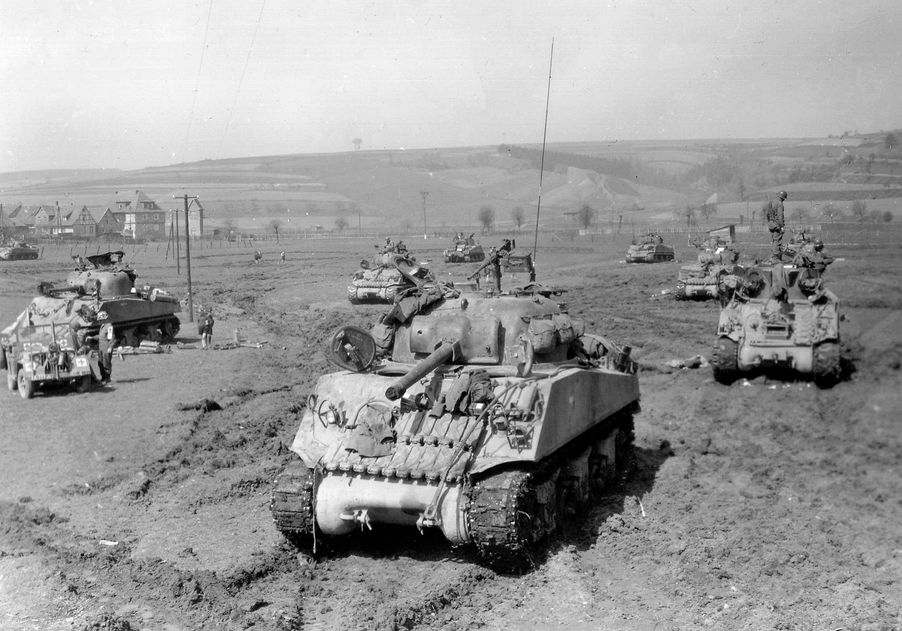 US 9th Armored Division, Westhousen, Germany, April 10, 1945