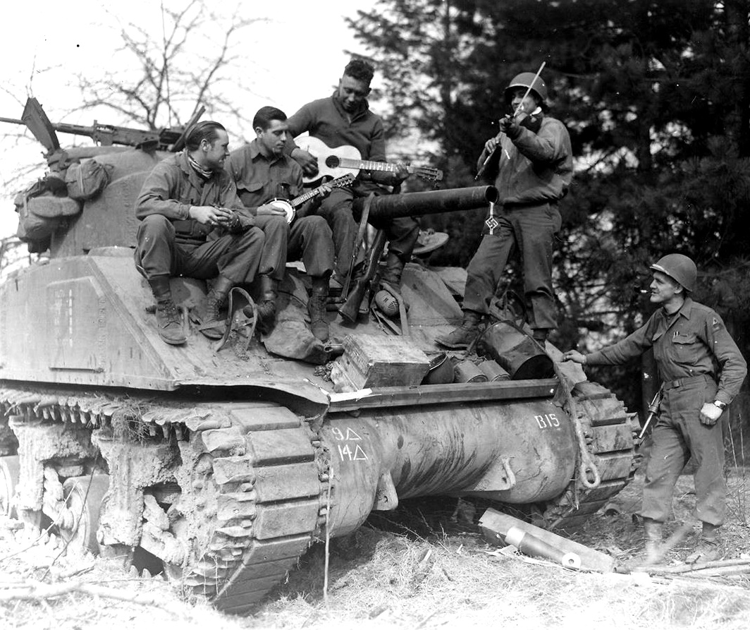 14th Tank Battalion, 9th Armored Division, autumn 1944 in France or spring 1945 in Germany