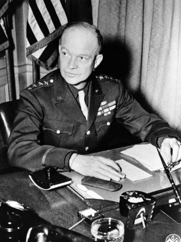 Dwight David Ike Eisenhower (Oct 14, 1890 – Mar 28, 1969) was an American senior officer and a politician who served as the 34th president of the USA from 1953 to 1961. During WW-2, he became a five-star general in the Army and served as Supreme Commander of the Allied Expeditionary Force in Europe