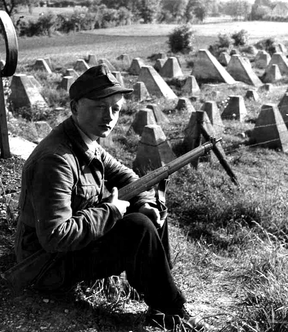 HJ Soldier on the Siegfried Line - Aachen vicinity