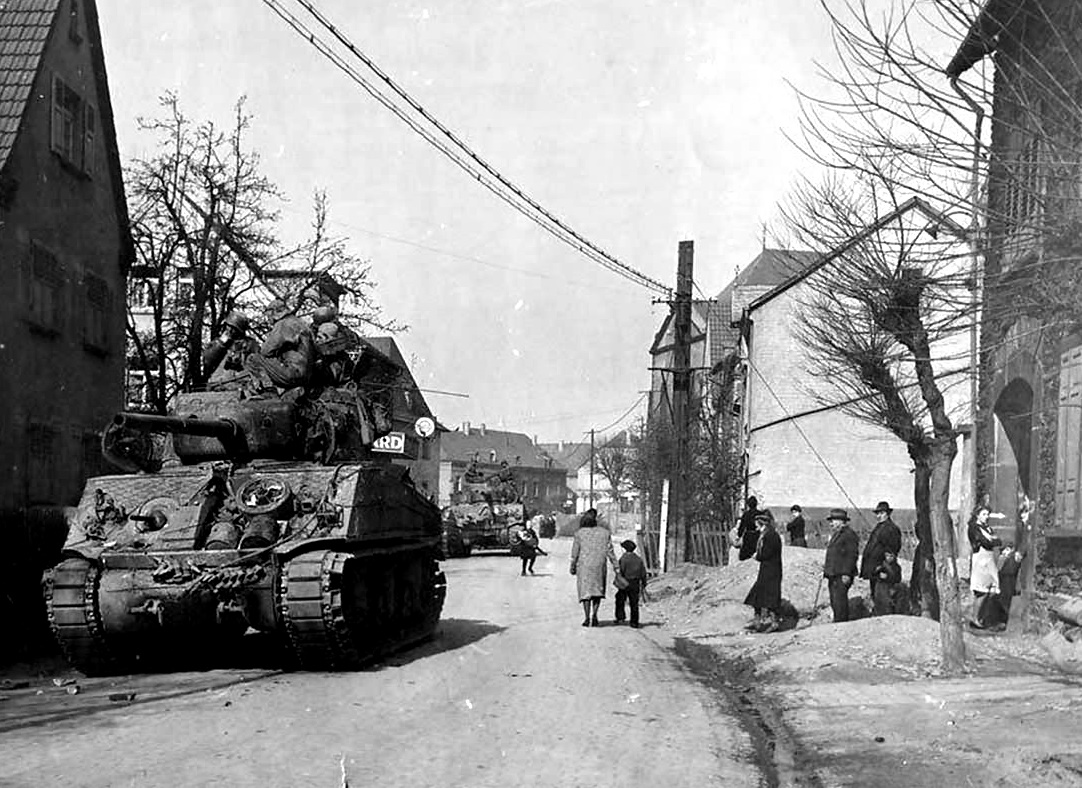 M4 of the 9th Armored Division, Leutesdorf 22 March 1945