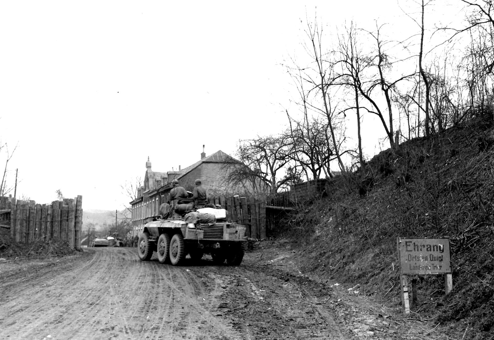 M8 of the 10th Armored Spearhead reaches Quint Germany 9 March 1945