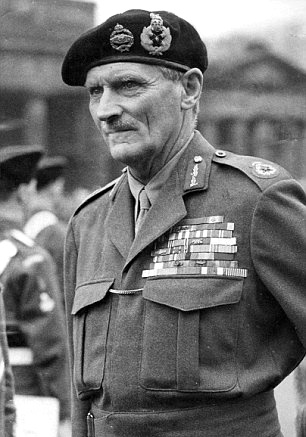 Field Marshal Bernard Law Montgomery, 1st Viscount Montgomery of Alamein, (Nov 17, 1887 – Mar 24, 1976), nicknamed Monty, was a senior British Army officer who served in both the First World War and the Second World War