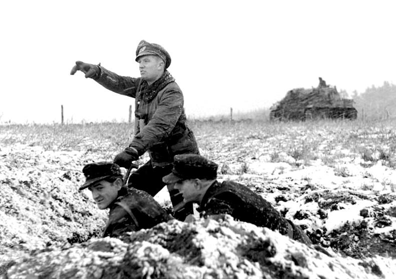 German Troops - Battle of the Bulge - Illustration