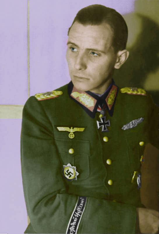 Gen Otto Ernst Remer (Aug 18, 1912 – Oct 4, 1997) was a German Wehrmacht officer in World War II who played a major role in stopping the July 20 plot in 1944 against Adolf Hitler. In his later years he became a politician and far right activist. He co-founded the Socialist Reich Party in West Germany in the 1950s and is considered an influential figure in the post-war neo-fascist politics in Germany