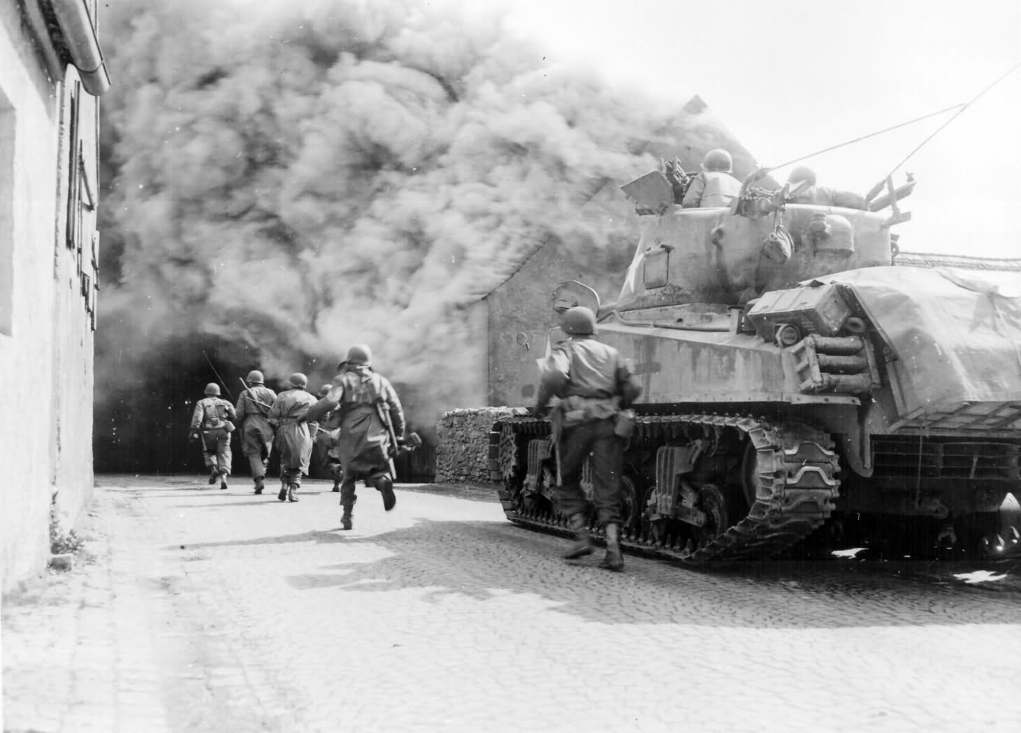 11th Armored Division Sherman in Wernberg, Germany