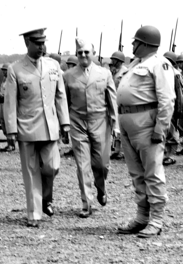 Forced to step down as commander of the 28th Division in 1942, because of his age, Edward Martin continued to make regular visits to Fort Indiantown Gap after his election as governor of Pennsylvania in 1943. There, in the summer of 1945, he presided over the Third Annual Encampment