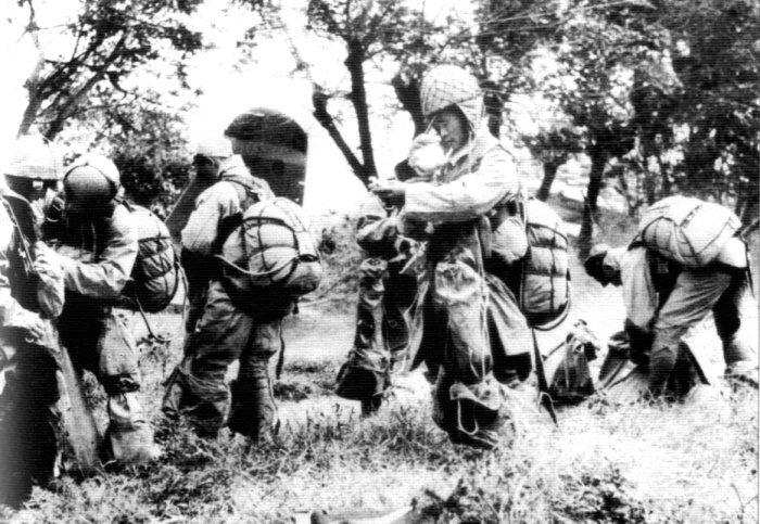 Japanese Paratroopers embarking for Leyte