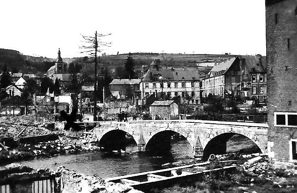 Stavelot, l'Amblève River and the Bridge