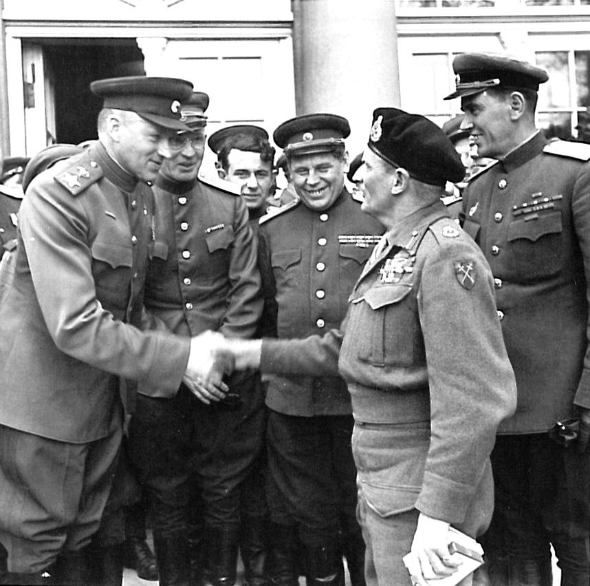 7th May 1945 Marshal Rokossovsky & Field Marshal Montgomery