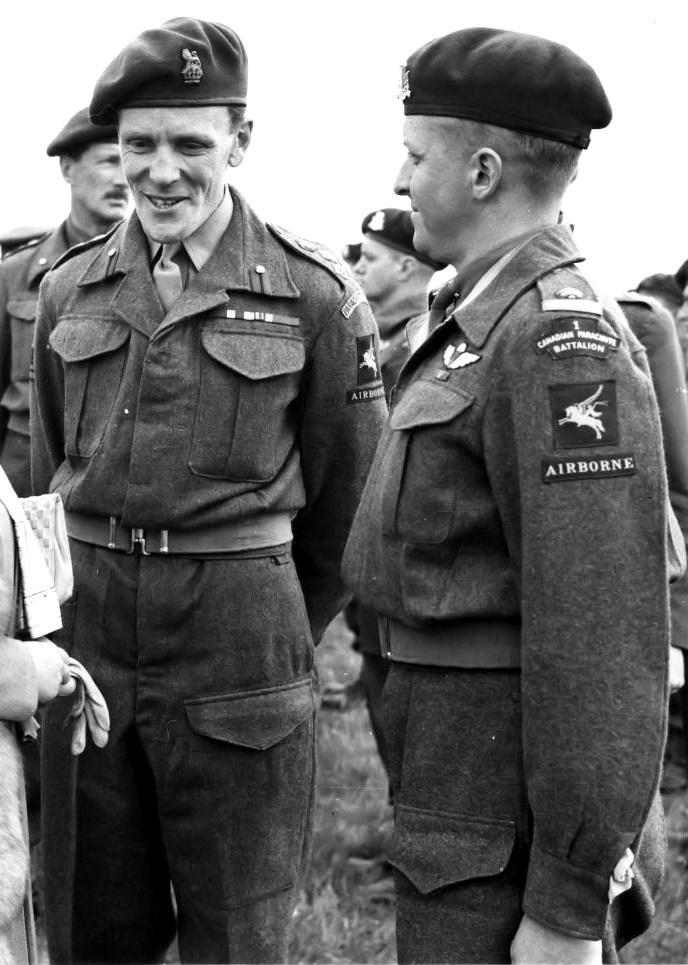 Brigadier Hill visits 1st Canadian Parachute Bn (IWM)
