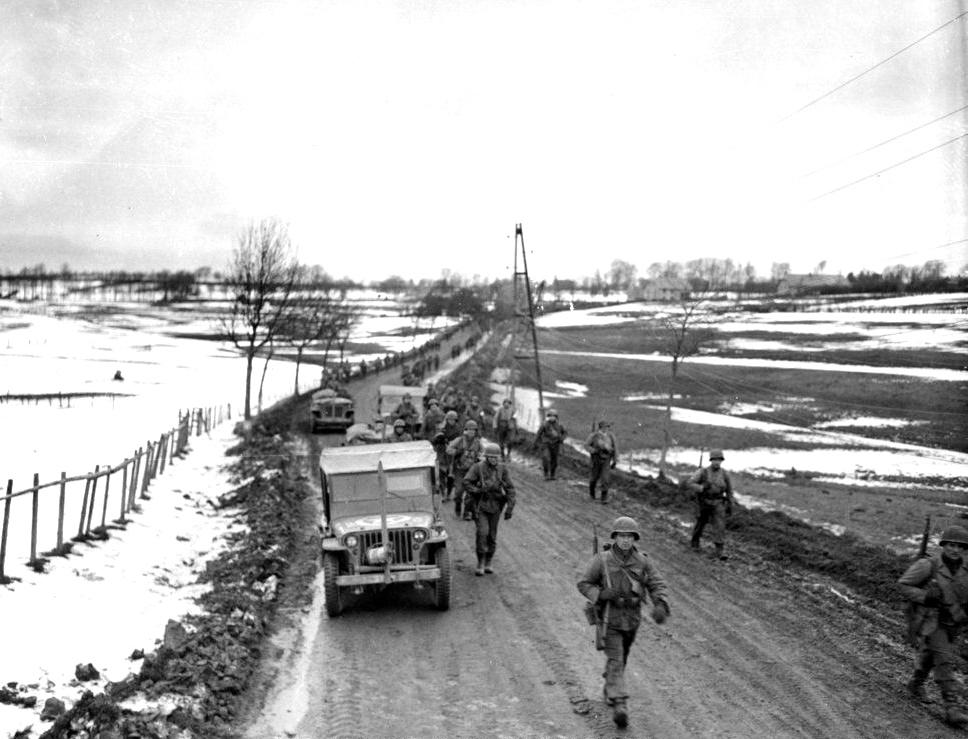 Highway between Bullingen and Butgenbach Dec 1944