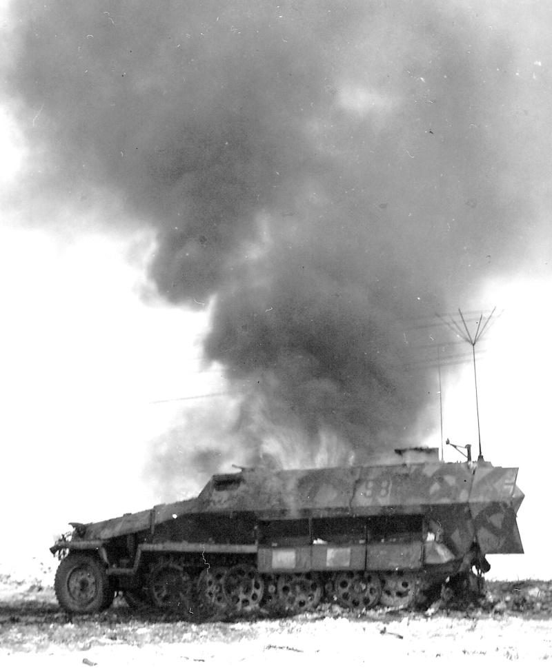 Destroyed German Half-Track Bulge Dec 1944