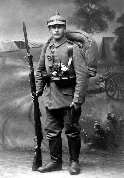 German Soldier with Equipment WW-1
