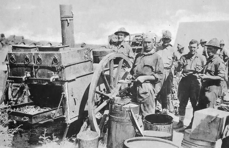 Chow, Field Kitchen, Camp Travis, Texas (1920s)